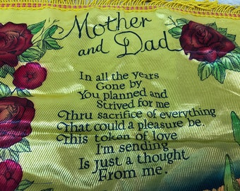 Pillow cover mother and father gift