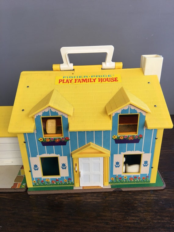 1969 Fisher Price Play Family House With Accessories Amp Little
