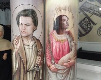 St Romeo + Juliet Leo Claire Valentines Prayer Candle