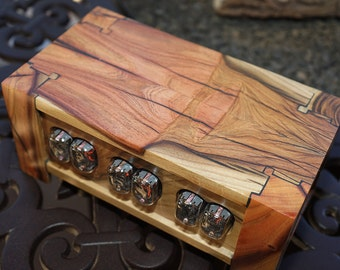 409-pistachio wood nixie tube clock/ calendar- made to order