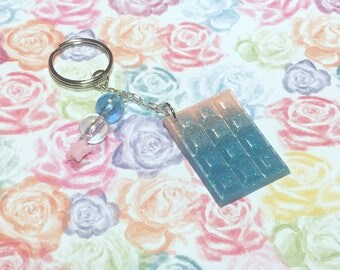 Pink and Blue Chocolate Keychain !