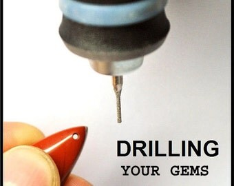 Drilling service for gems you buy ( Front Drill - 1 mm to 3 mm ) making pendants from cabochons. Free service for more 10 or more items.