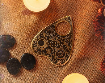 Ouija Pin for Spirit Board Gothic Occult brass