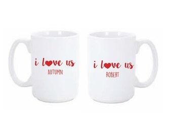 I love us Coffee Mug Set