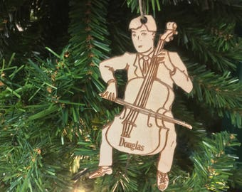 Cellist 2 Personalized Christmas Ornament