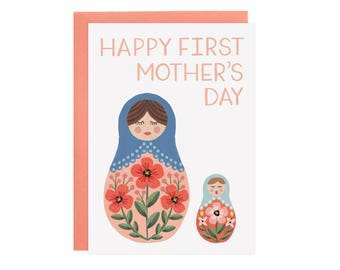 Nesting Dolls - First Mother's Day Card