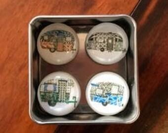 Zentangle Inspired Art Vintage Trailer Magnets