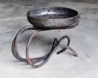 Hand forged fire bowl
