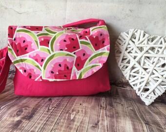 Watermelon Print - Small Messenger Bag