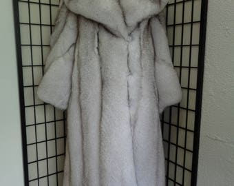 Brand new Norwegian blue fox fur coat woman women size all custom made