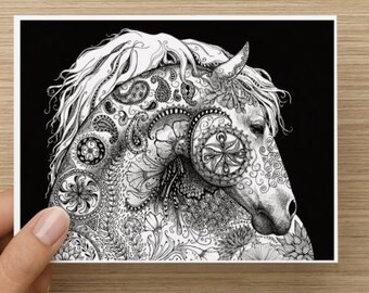 Horse Folded Notecards- 4 designs