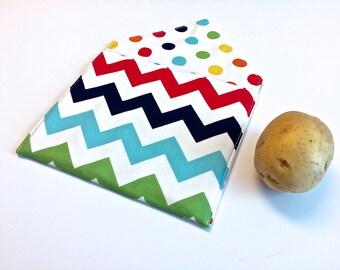 Microwave Potato Bag, Potato Cooking Bag, Tortilla Warmer, Bread Warmer Bag by 8th Day Encore