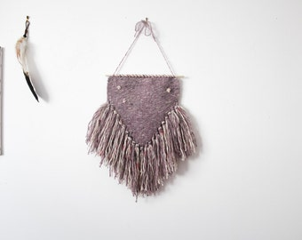 Wall Hanging, Modern Wall Decor, Tapestry, dusty lilac