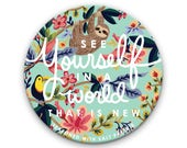 Preorder - See Yourself in a World That Is New 76mm/3 inch Pocket Mirror, JW Gift, Jehovah's Witnesses, JW Convention Gift, JW.org, Paradise