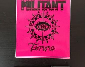 Militant Femme Stickers