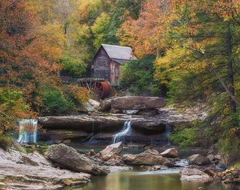 Old Grist Mill | Scenic, rustic, travel, wall art, decor, fall, outdoors, West Virginia