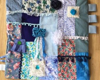 BLUE DREAMER | Dementia Blanket | Alzheimer's Fidget Quilt | Alzheimer's Symptoms | by Restless Remedy