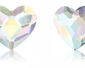 Swarovski 2808 - Heart Crystal Flatback Rhinestone