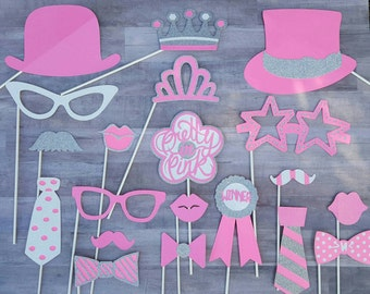 Pretty In Pink Breast Cancer Inspired Photo Booth Props