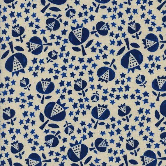 Boppy Cover - 'Flower Shop' Thistle in Indigo - MADE-to-ORDER
