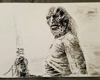 White Walker - Game of Thrones Ink Drawing