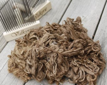 Raw Fleece - 3 ounces Suri Alpaca - Small Farm Sourced SOFT Yearling Fleeces!