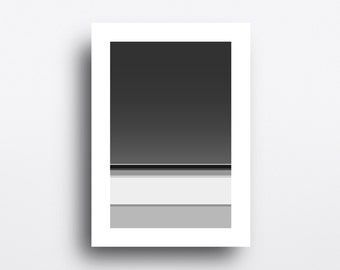 Abstract Landscape Wall Art Black and White