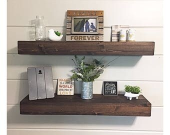Rustic Wood Floating Shelves, Floating Shelf, Rustic Home Decor, Farmhouse Shelf
