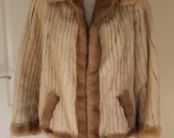 Vintage Mink Jacket, Cream & Fawn