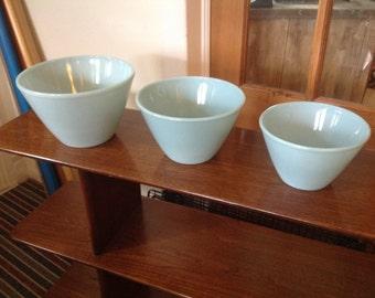 Vintage fireking bowls blue