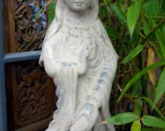Quan Yin statue made of volcanic ash (053)
