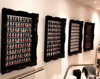 Nail Polish Rack Baroque Shabby Chic Style black gloss  retail display cabinet