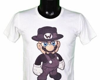 mario bros - BREAKING BAD - heisenberg - walter white t-shirt unisex men and women color white / / unisex Heisenberg t-shirt-white color