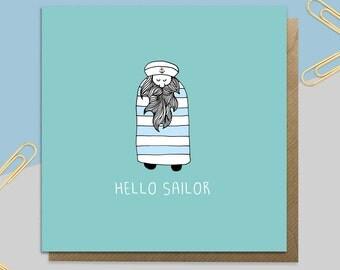Hello Sailor Card