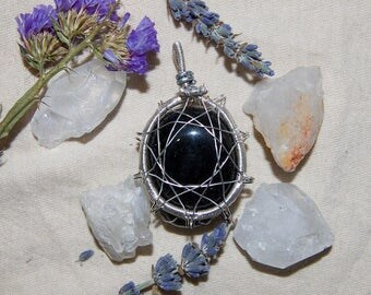 Blue Goldstone Pendant