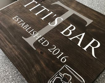 Wooden Sign - Man Cave  - Bar Sign - Custom Bar Sign - Fathers Day - Man Cave Sign - Painted Wooden Sign
