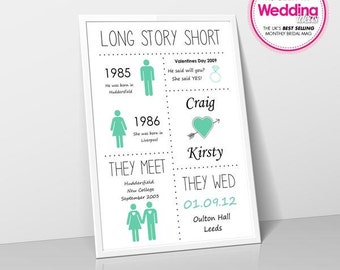 Long Story Short personalised print