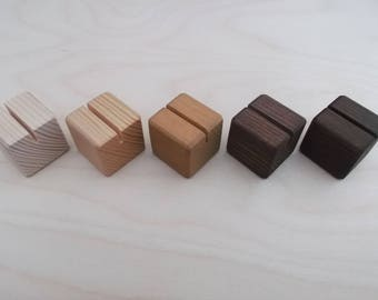 10 Small Place Card Holders, Table Number Holder, Wedding Decor, Wood Holder ,