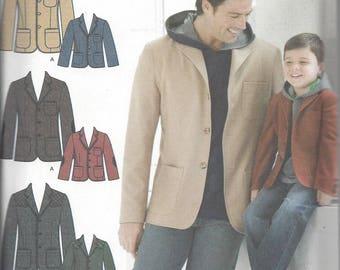 Simplicity 3708 Men's & Boy's Jacket pattern OOP