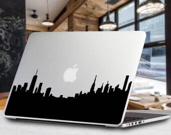 New York City Skyline Silhouette Macbook Laptop Decal Skyline Silhouette Decal Sticker Car Yeti Decal