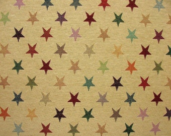 Tapestry Stars Luxury Designer Fabric Ideal For Upholstery Curtains Cushions Throws