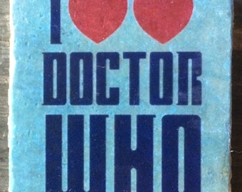 OVERSTOCK SALE: I Two Hearts Doctor Who Coaster or Decor Accent