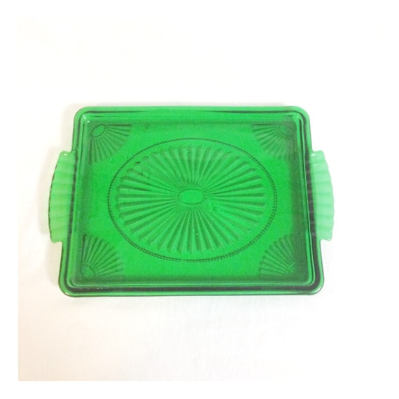 Green Art Deco Tray at prettypoppiesvintage