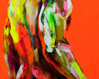 paintings of abstract naked men
