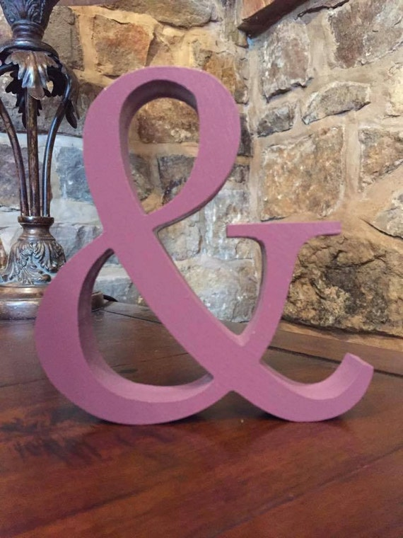 Purple wooden letters and numbers free standing painted for Standing wood letters to paint