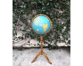 Vintage Pedestal Standing Globe Vintage 1960s Standing Globe Vintage Pedestal Crams Imperial Globe Vintage Standing Globe Vintage Kids Room