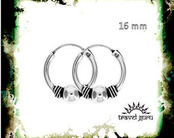 Silver 925 hoop earrings # 925 Silver Rings # sterling silver hoop # festival #tribal hoop earrings