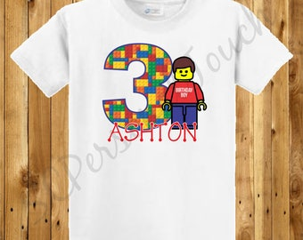Children's Lego Birthday Shirt