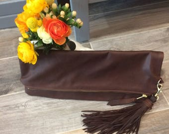 """Hand Crafted Leather Clutch """"Jackie"""""""