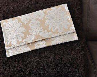 Gold Damask Clutch